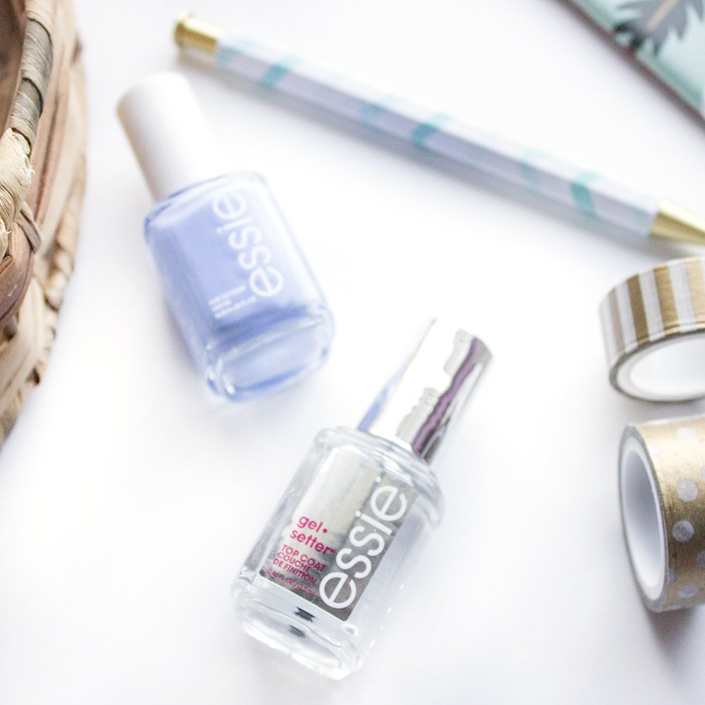 Essie Gel Setter Review - Little Blushing Birdie