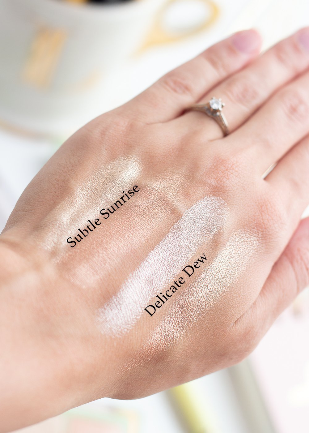 Swatches of the Pixi Glowy Gossamer Duos