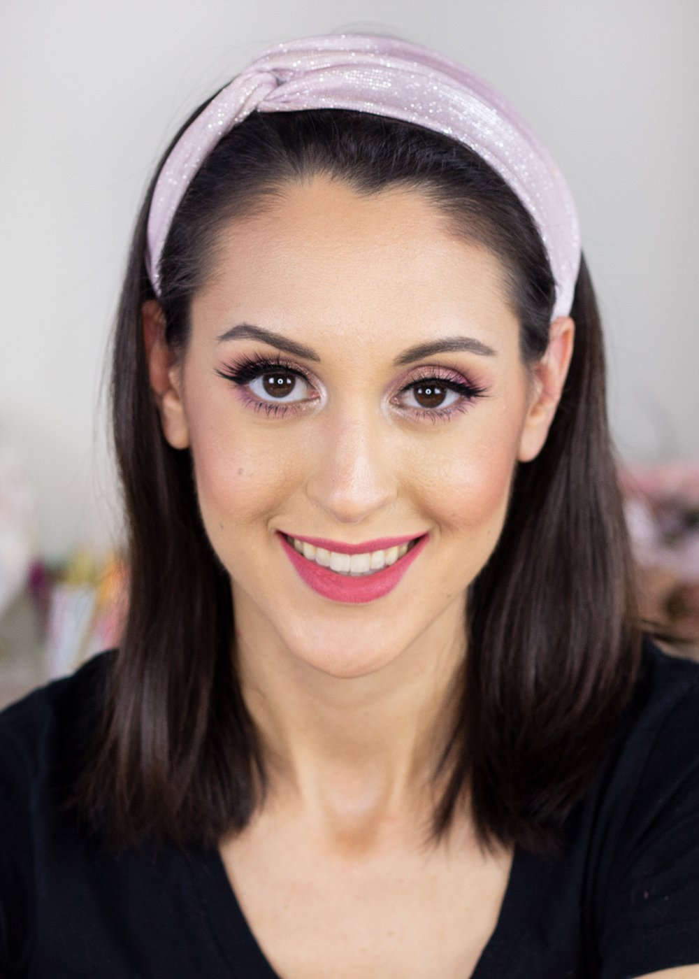 Karity Rosé All Day Makeup Look