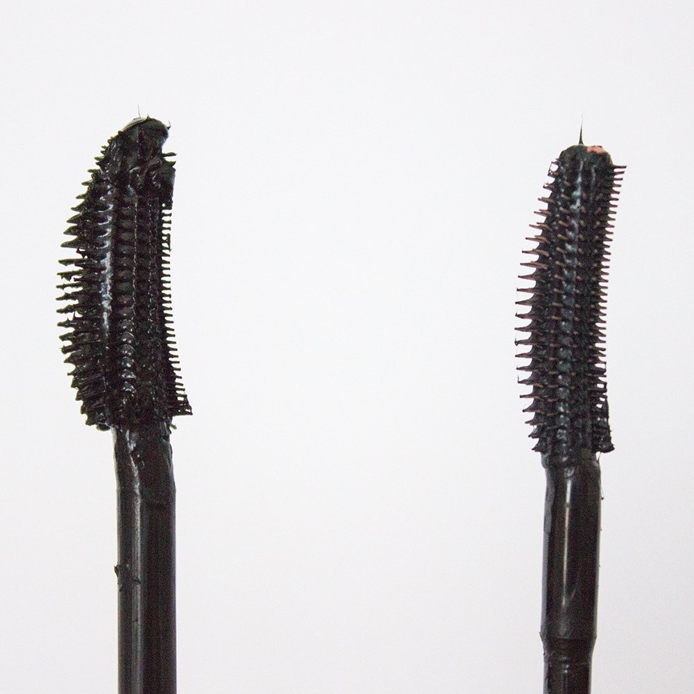Makeup Dupes: Benefit Roller Lash vs. Maybelline Lash Sensational Mascara wand comparison