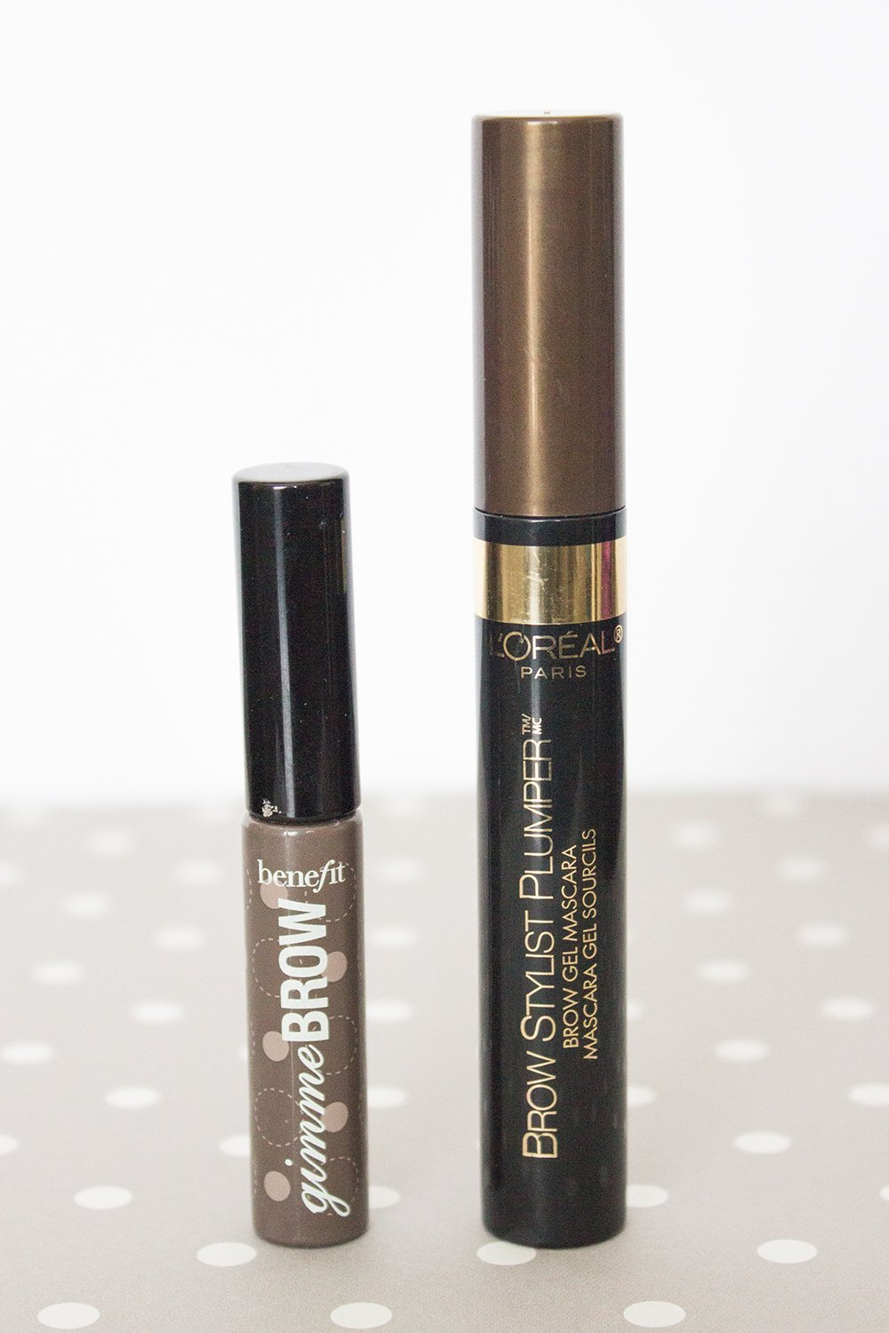 Makeup Dupes: Benefit Gimme Brow vs. L'Oreal Brow Stylist Plumper