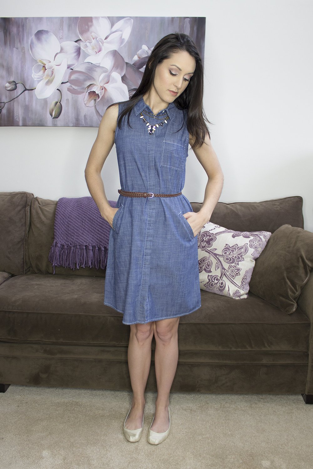Spring Stitch Fix 2016: Olive & Oak Lenette Chambray Shirt Dress