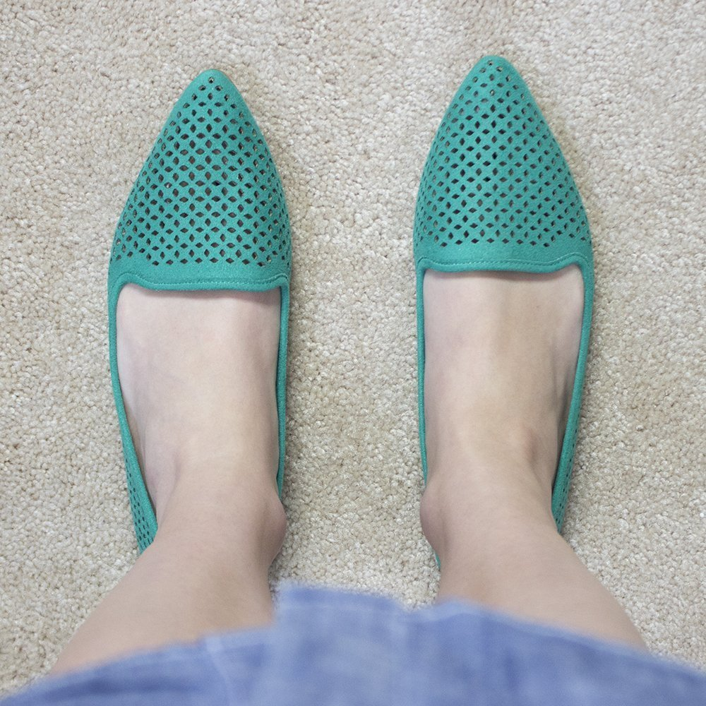 Spring 2016 Stitch Fix: Teal Mia Esie Laser-Cut Flats