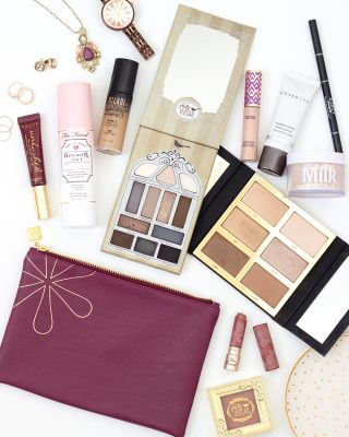 Makeup Flatlay Little Blushing Birdie