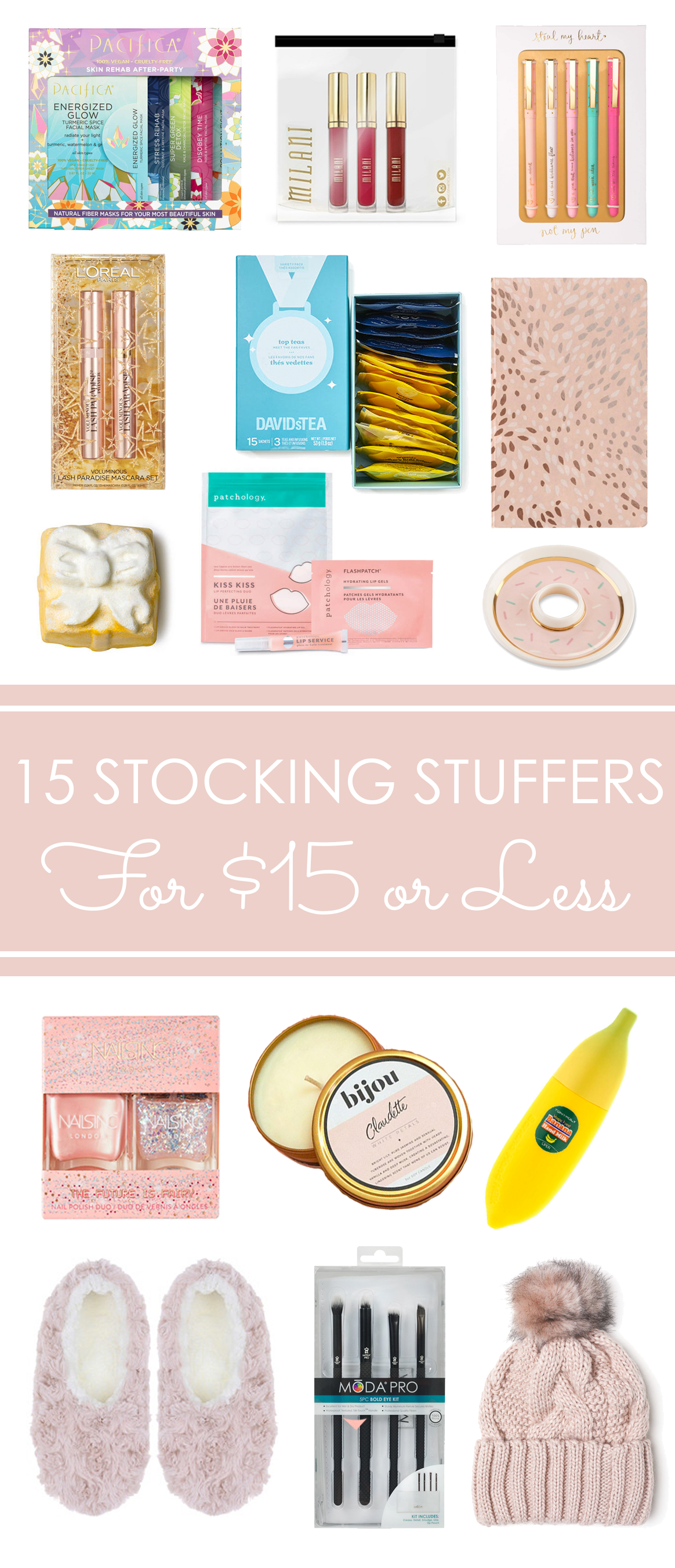 15 Stocking Stuffers for Her that cost $15 or Less