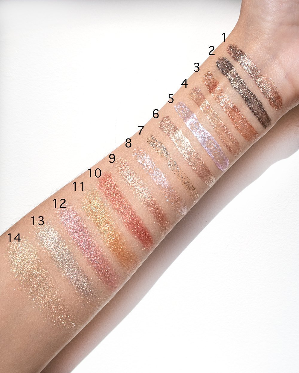 The Best Glittery and Metallic Eyeshadows Swatched #Makeup #Beauty #Swatches
