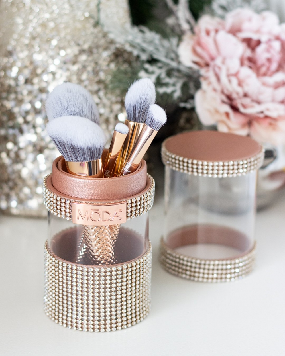 Shop MODA's Metallic Holiday Brush Set